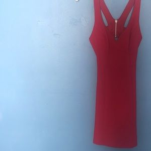 Red body-con homecoming dress